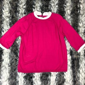 Talbots cotton pullover with pleated collar